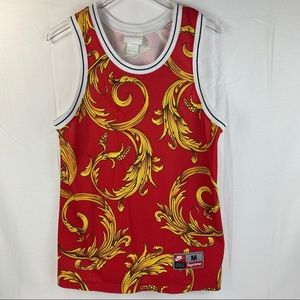 Nike Jersey Supreme Basketball Jersey Red Paisley